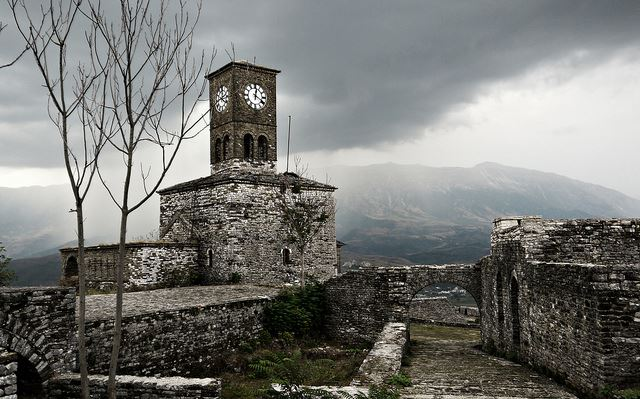 "Byron""s Footsteps - clocktower at the castle, Gjirokastra - © Flickr user djstanek"