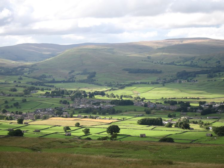 Wensleydale from Wether Fell - © William Mackesy