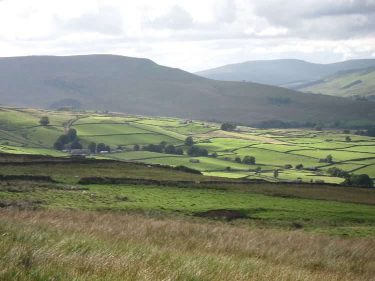 West along Wensleydale from Wether Fell - © William Mackesy