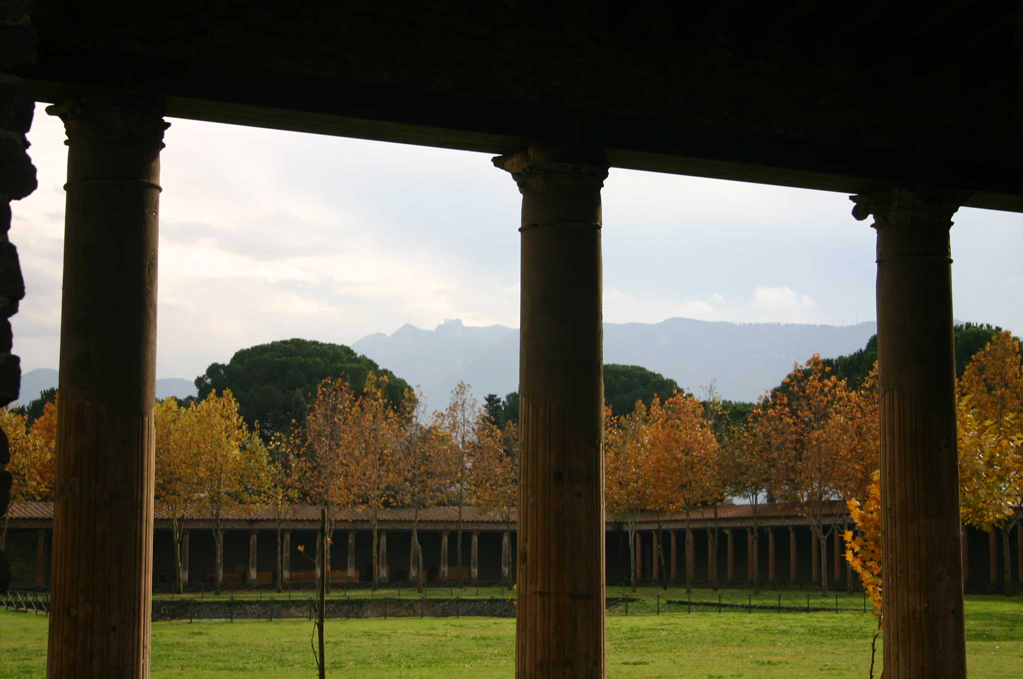 Pompeii - Palaestra, late autumn - © William Mackesy