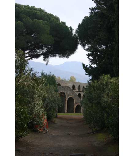 Pompeii - Path to the Amphitheatre - © William Mackesy