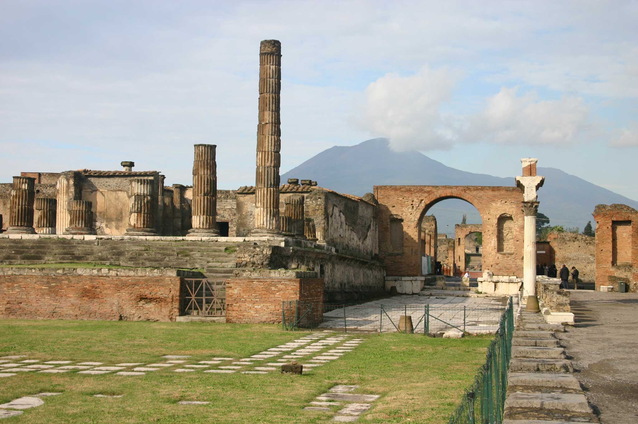 Pompeii - Vesuvius From the forum - © William Mackesy