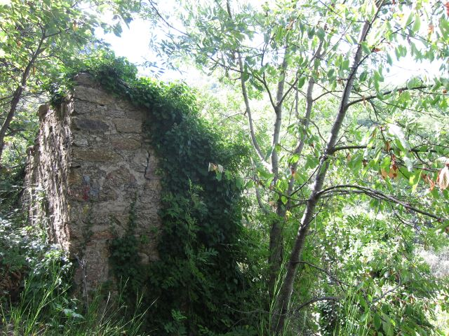 France Pyrenees, Pilo de Belmaig Ridge, Ruin in forest, Walkopedia
