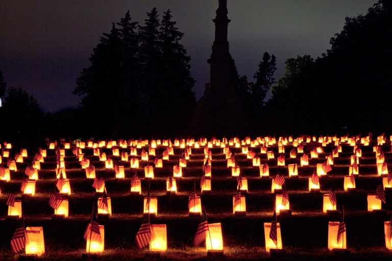 Gettysburg Luminaries - © Flickr user Beau Considine