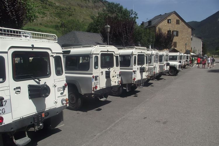 The 4x4 taxis at Espot - © Paul Taylor
