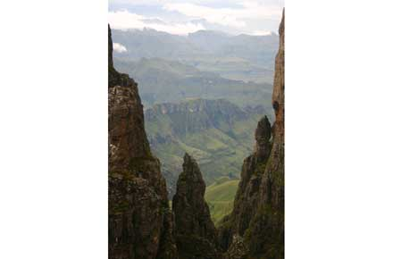 Drakensberg Escarpment - ? From Mponjwane - © William Mackesy