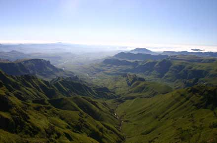 Drakensberg Escarpment - ? From near the Sentinel - © William Mackesy