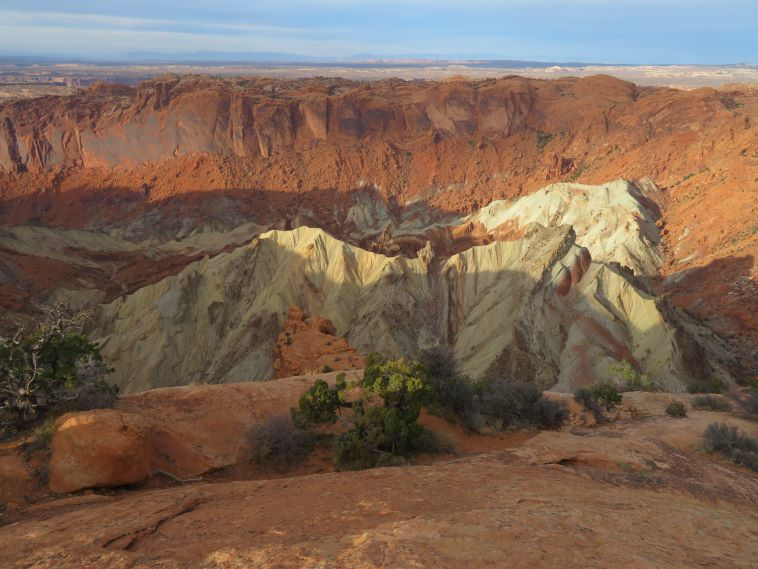 Across the Upheaval Dome, crater, late light - © William Mackesy