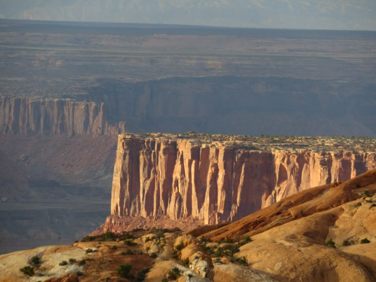 Canyonlands National Park: West beyond Upheaval Canyon , late light - © William Mackesy