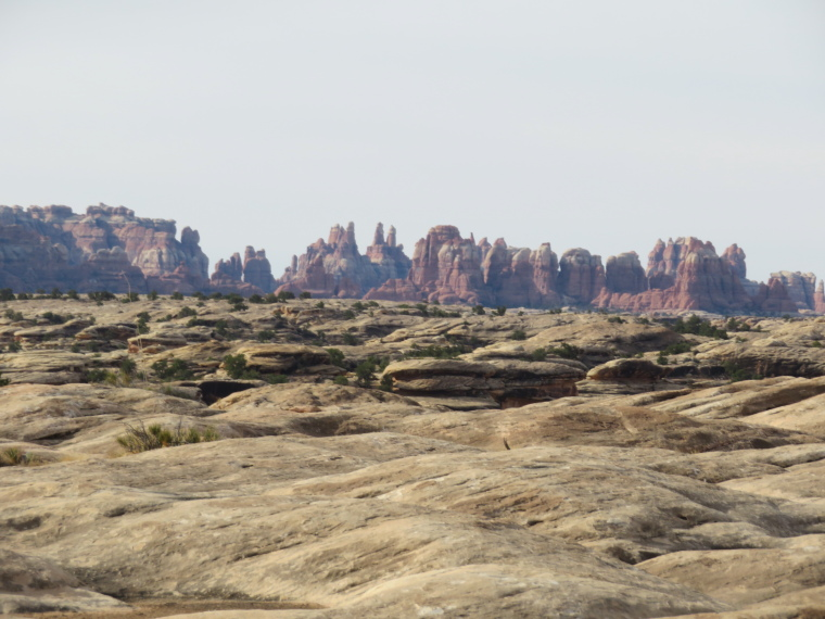 Canyonlands National Park: Needles from Slickrock Trail - © William Mackesy