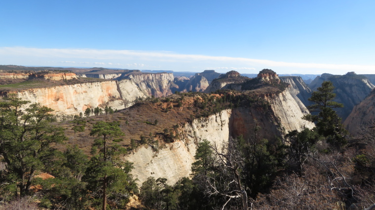 West Rim Trail, tops of the canyons west of main Zion - © William Mackesy