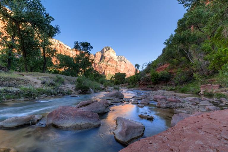 Zion National Park: Zion National Park - Virgin River Flow - © Jeff Krause