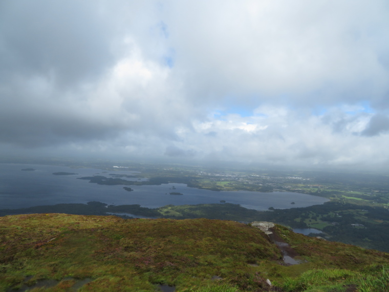 Looking north over Killarney lakes from Torc peak - © William Mackesy