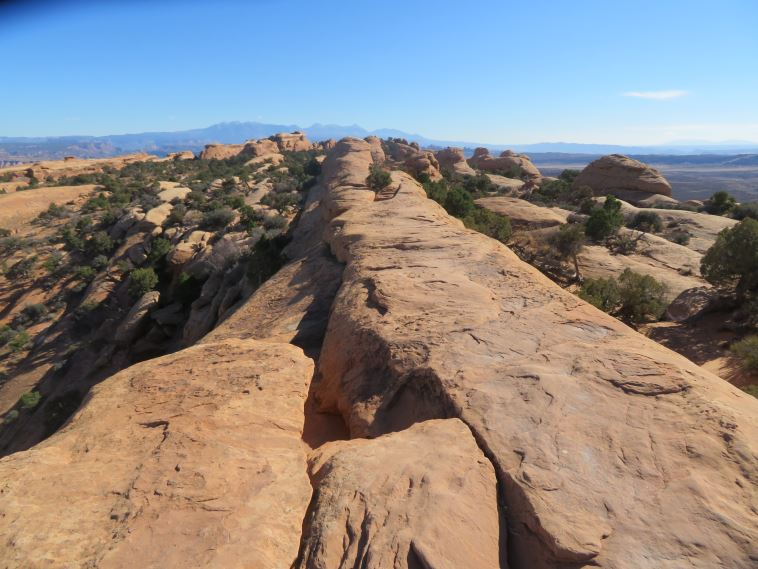 "Arches National Park: Thrilling walk along Devil""s Garden high narrow ridge - © William Mackesy"