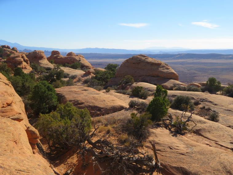 "Arches National Park: Looking west from Devil""s Garden high ridge - © William Mackesy"