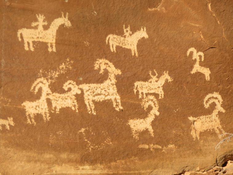 Petroglyphs on way to Delicate Arch  - © William Mackesy
