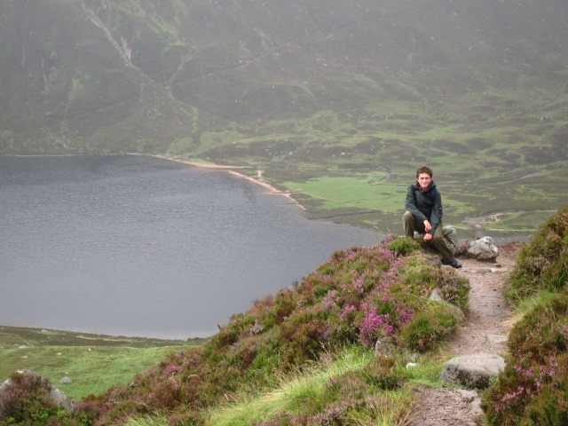 Lochnagar and Loch Muick: From just below Glas-Altt - © William Mackesy