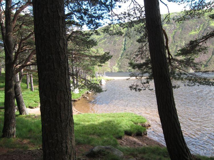 Lochnagar and Loch Muick: Loch Muick, by the lodge - © William Mackesy