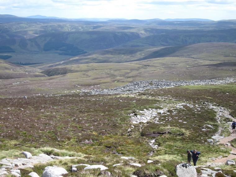 Lochnagar and Loch Muick: Near the Meikle Pap shoulder - © William Mackesy
