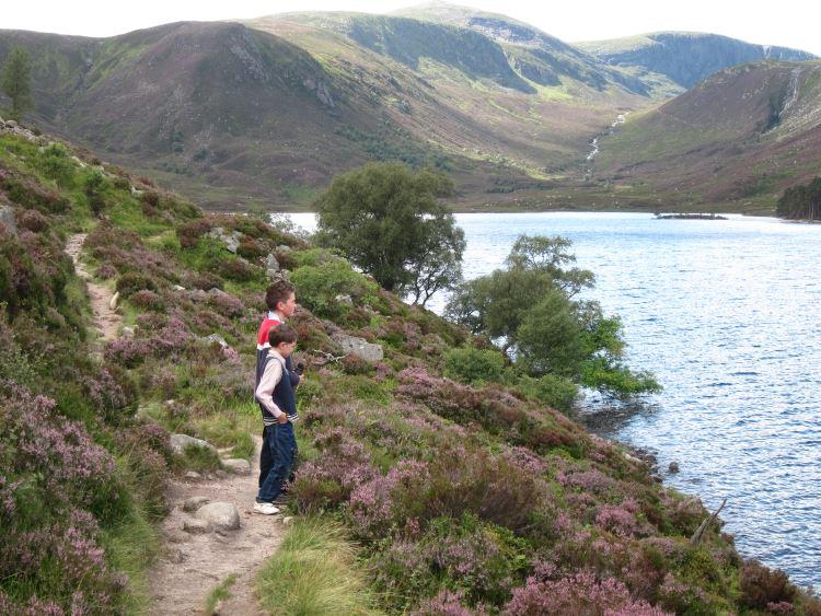 Lochnagar and Loch Muick: South along Loch Muick - © William Mackesy