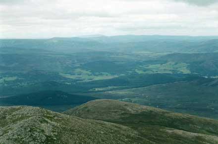 Lochnagar and Loch Muick: Lochnagar - north from peak - © William Mackesy