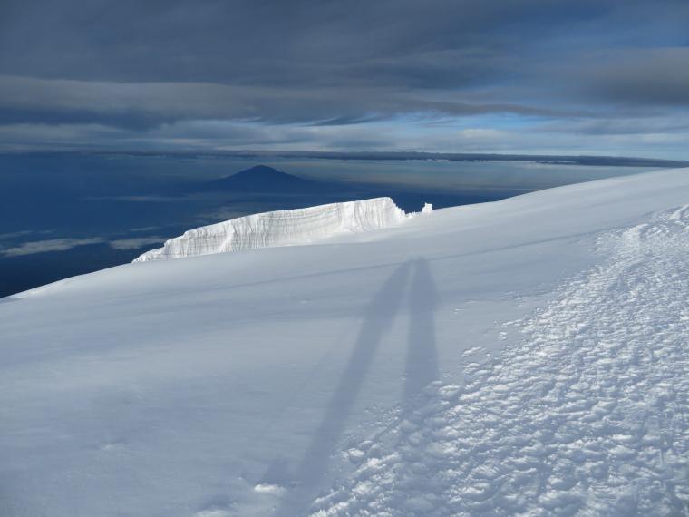Tanzania Mount Kilimanjaro, Climbing Kilimanjaro Summit, Mt Meru from summit ridge, Walkopedia