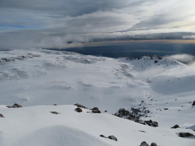 Tanzania Mount Kilimanjaro, Climbing Kilimanjaro Summit, Inside crater from summit ridge, Walkopedia