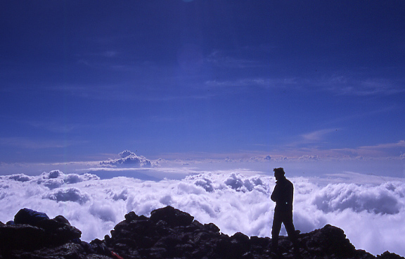 Climbing Kilimanjaro Summit: It was the bluest day, and we were rewarded with clear views - © Arabella Cecil