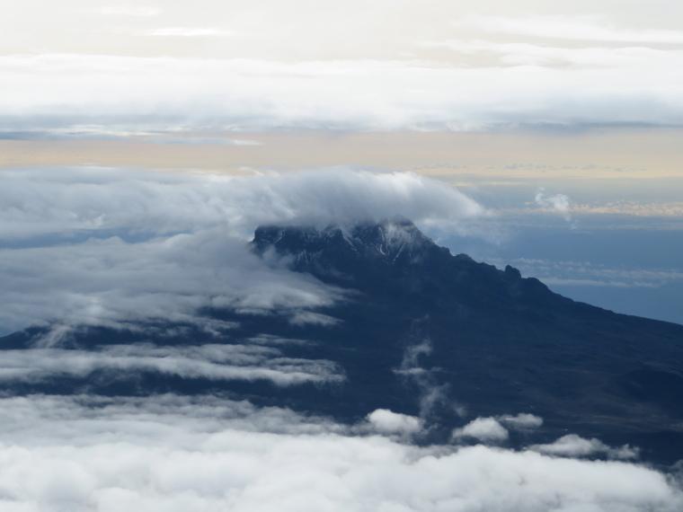 Tanzania Mount Kilimanjaro, Climbing Kilimanjaro Summit, Mawenzi from summit ridge , Walkopedia