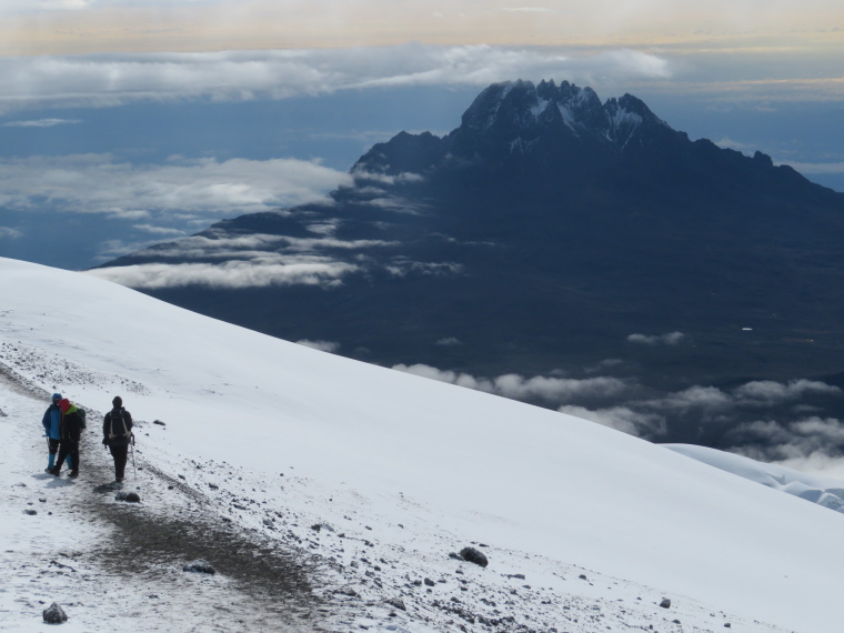 Tanzania Mount Kilimanjaro, Climbing Kilimanjaro Summit, Mawenzi from summit ridge, Walkopedia