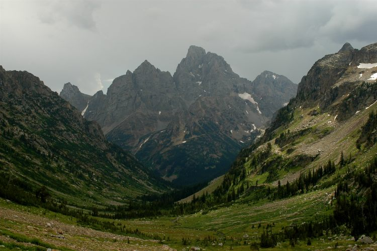 Teton Crest Trail - Looking down North Cascade Canyon - © Copyright Flickr User Flickmor