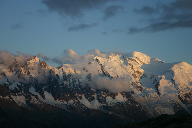 Aiguilles Rouges: Mt Blanc From Lac Blanc - © William Mackesy