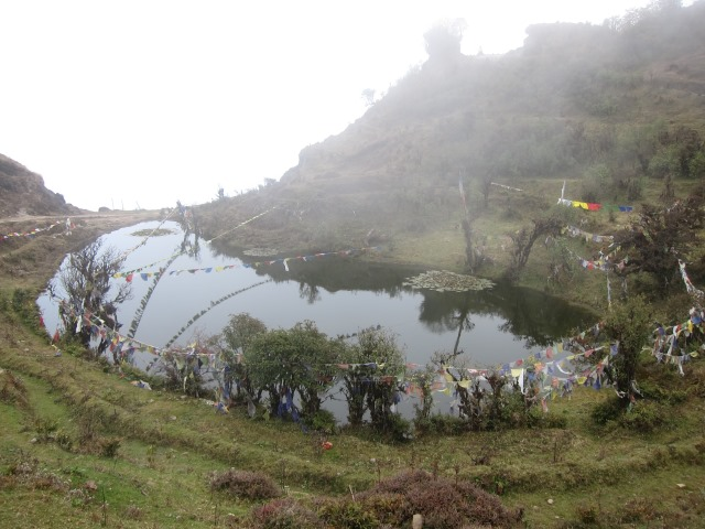 India Sikkim and nearby, Singalila Ridge, Ridgetop sacred lake - in cloud, Walkopedia