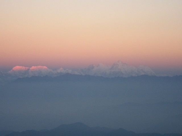 India Sikkim and nearby, Singalila Ridge, Sandakphu, first light on Cho-Oyu, Walkopedia