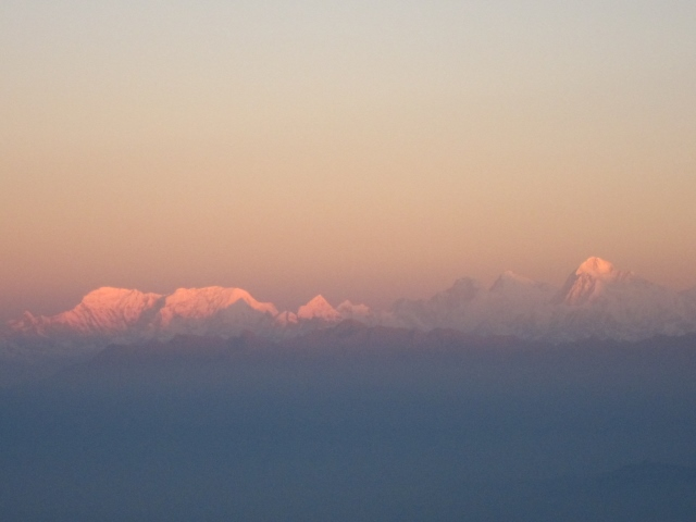 India Sikkim and nearby, Singalila Ridge, Sandakphu, first light on Makalu, Walkopedia