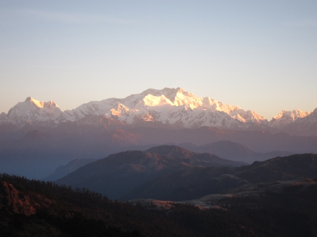India Sikkim and nearby, Singalila Ridge, Sandakphu, early light, Walkopedia