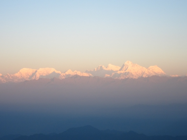 India Sikkim and nearby, Singalila Ridge, Everest group from Sandakphu, Walkopedia