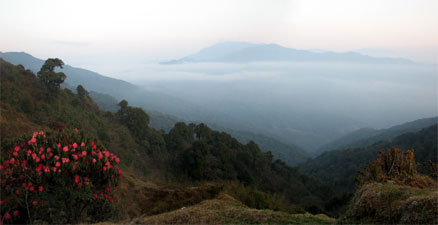 India Sikkim and nearby, Singalila Ridge, Pre-dawn view From Tumling, Walkopedia