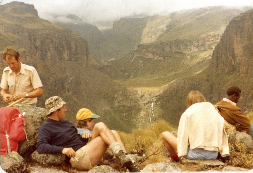 "Resting near Vivienne""s Falls Mt Kenya - © Dick Everard"
