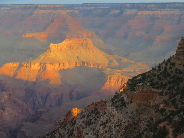South Kaibab, first light, from Yaki Point - © William Mackesy