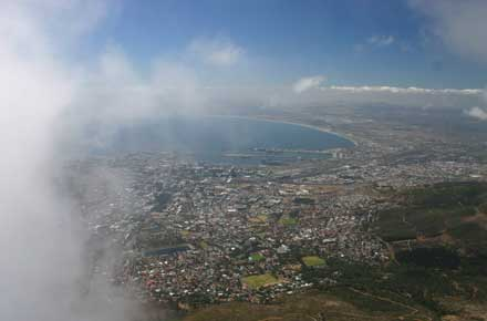 Over Cape Town - © William Mackesy