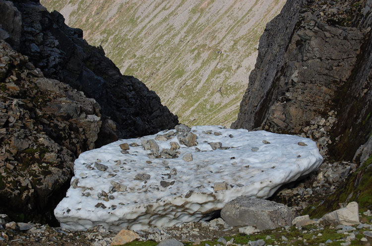 Ben Nevis: Ben Nevis Ice Formation - © By Flickr user subflux