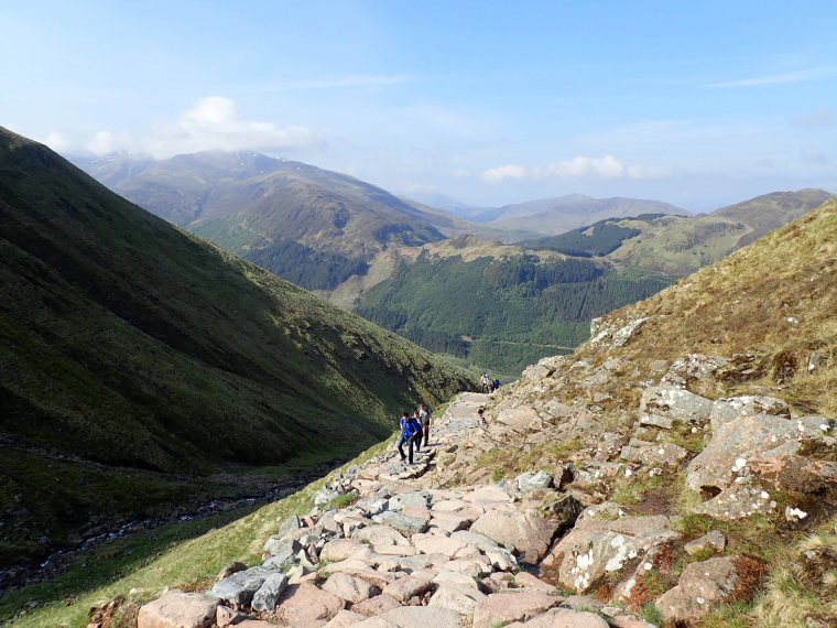 United Kingdom Scotland SW Highlands, Ben Nevis, Back onto lower Glen Nevis, Walkopedia