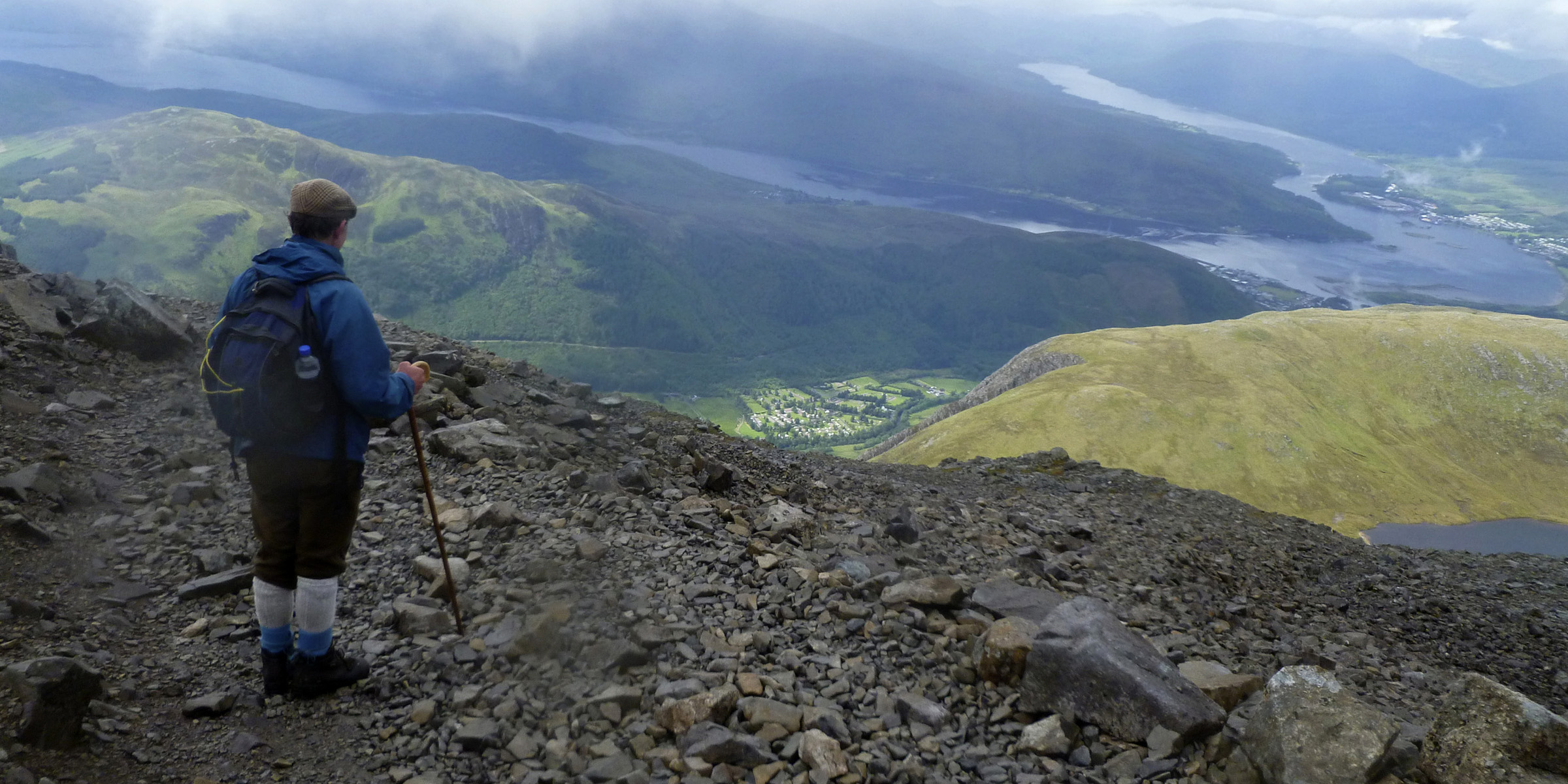 Ben Nevis: View From 2/3 of the way up towards Fort William  - © James Kerr