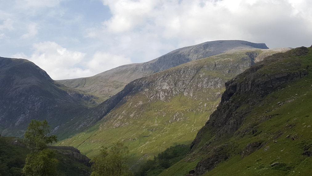 United Kingdom Scotland SW Highlands, Ben Nevis, Ben Nevis fm upper Glen Nevis, Walkopedia