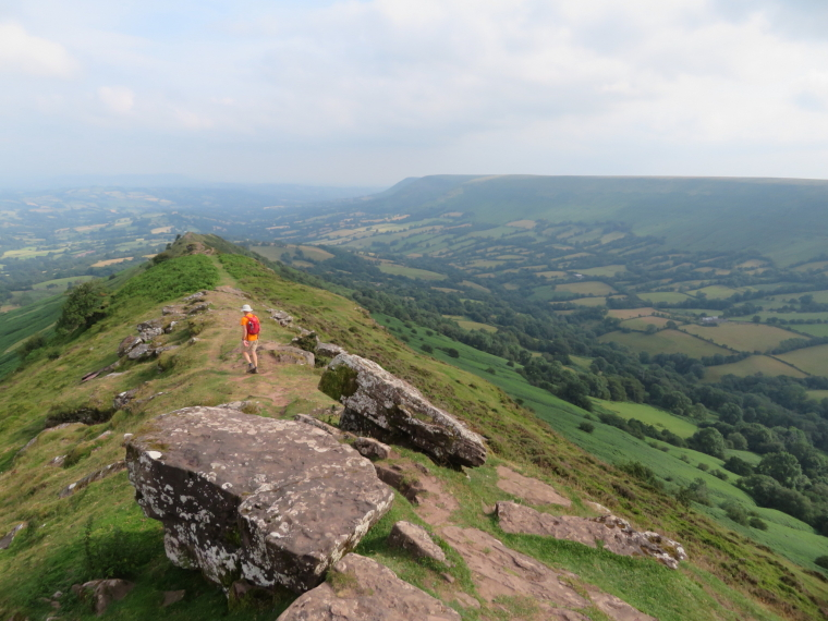 United Kingdom Wales Black Mountains, Black Mountains, Along Black Hill ridge, Walkopedia