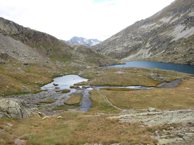 "Lakes some way north of and below Col d""Aratille - © William Mackesy"