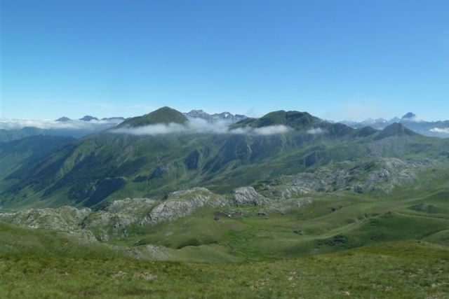 Looking north from Col de la Cuarde (1980m), Vignemale (3298m) on far right  - © Dick Everard
