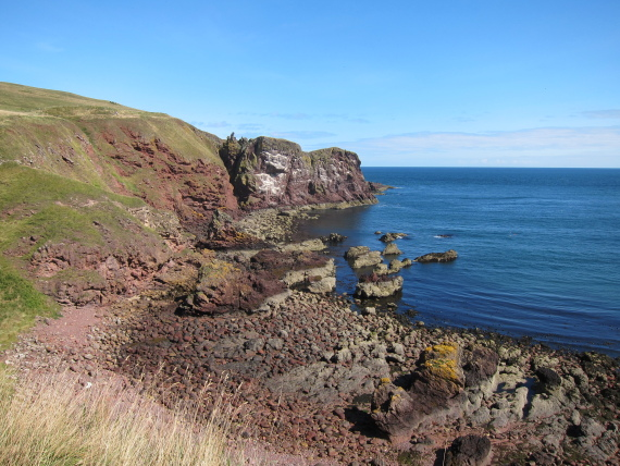 "The Borders: St Abb""s Head - First bay - © William Mackesy"