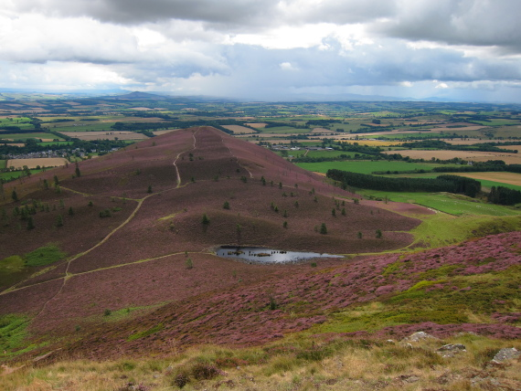 The Borders: Eildon Hills - south hill from central hill - © William Mackesy